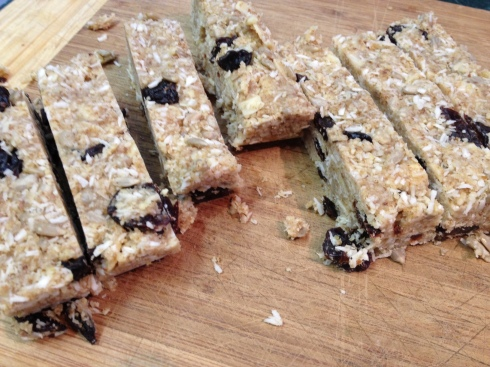 Chewy Coconut Cherry Granola Bars, Grain Free