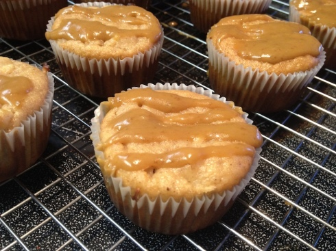 Low Carb Caramel Apple Muffins